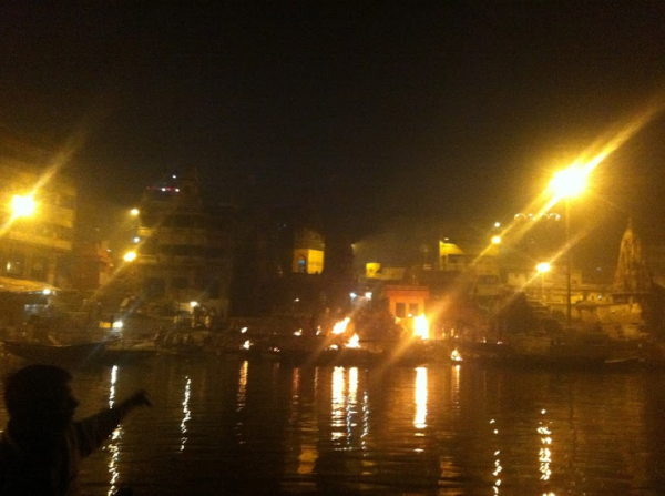 Varanasi Funeral Pyres As Viewed From The Ganges