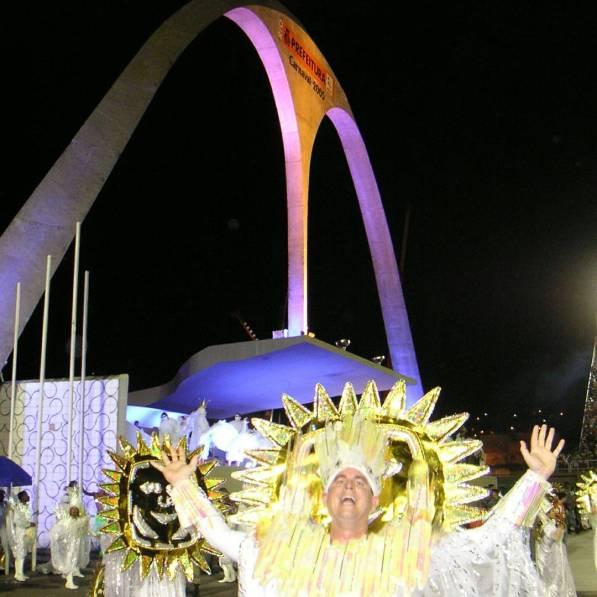 Dancing in Imperatriz Leopoldinense in Rio Carnaval - Rio de Janeiro, Brazil