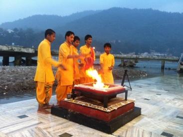 Ganga Aarti ceremony in Rishikesh, India